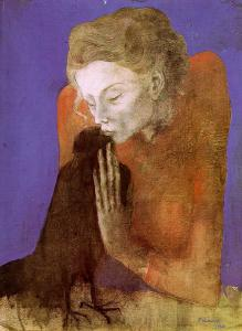 Woman with a crow - Picasso